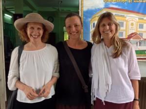 Här är jag med de välkända lärarna Narayan Liebenson och Carol Wilson från IMS