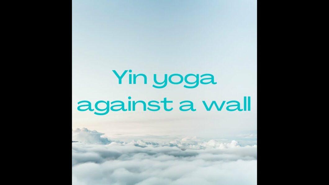 Yin yoga against a wall, Magdalena Mecweld